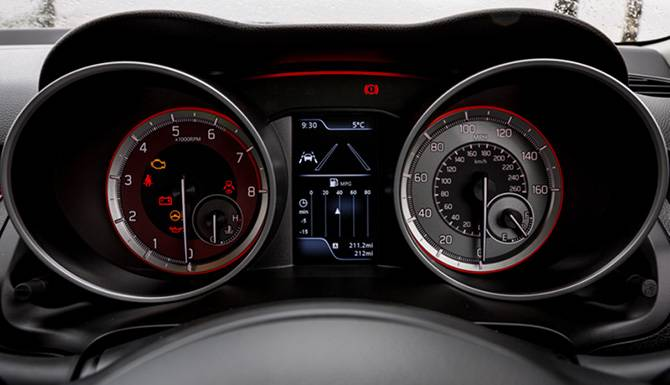 Suzuki Swift sport dashboard