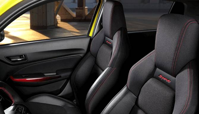 Suzuki Swift sports seating