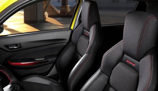 Suzuki Swift sports seating
